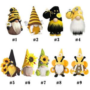 World Bee Day Gnome Nordic Gonk Tomte Sunflower Swedish Plush Doll Ornaments mc