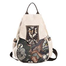 Women Backpack Girls Handmade Lady Travel Shoulder College Canvas School Bags
