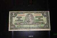 1937 $1 Dollar Bank of Canada Banknote XL1893499