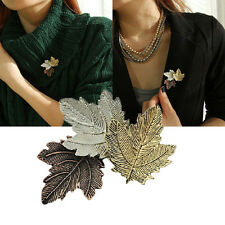 Amazing Vintage Style Autumn Maple Leaf Leaves Brooch Pin Accessories Gift UK