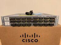 Cisco WS-C4900M 8 Port 10 GbE Ethernet Switch w/WS-X4908-10GE 15.2 OS Dual AC