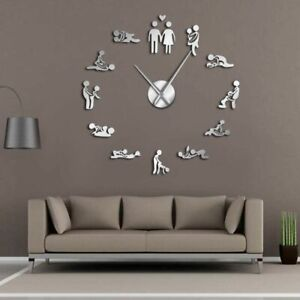 Wall Clock Giant Sex Love Frameless Art Bachelorette Game Adult Room Decorations
