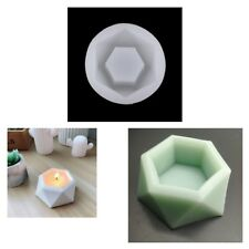Silicone Mold Geometric Flower Pots Succulent Plant Deco Candle Holder Mould