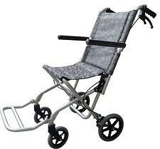 Lightweight Folding Aluminum Transport Chair 16.5 lbs Wheelchair with Hand Brake