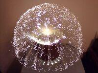 """Lampe fibre optique verre """"decoverre"""" 70's vintage rare"""