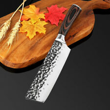 Japanese Nakiri Knife Chef Forged Stainless Steel Slicing Cleaver Chop Chopping