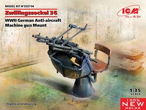 ICM 35714 - 1/35 Zwillingssockel 36 WWII German Anti-aircraft Machine gun Mount