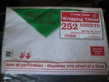 """252 Sheets~Holiday Collection Crystal Tissue Paper Wrapping ~26"""" X 20"""" ~White"""