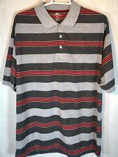 Red Rhino Men's Big & Tall Gray & Red Stripe Short Sleeve Polo Shirt Size 4Xl