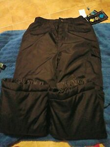 iXtreme Outfitters Boy's Protective Shell Snow Pants Black Size 6x/7  NWT