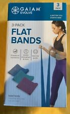 Evolve By Gaiam 3Pk Flat Bands Total Body Bands Resistance Band 03-63554