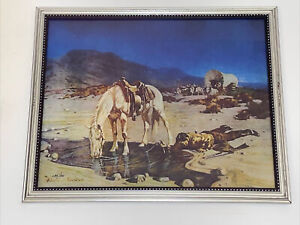 THE END OF THE DAY 8x10 WESTERN LITHO PRINT BY BELMORE BROWNE WILD WEST 296/500