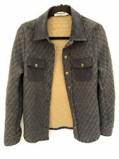 """TOPMAN Boys Mens Quilted Grey Blue Shirt Style Jacket IMMACULATE XXS 32""""-34"""""""