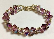 Elagant Bracelet Made with Large Swarovski Beads Swarovski Pearl & Miyuki Beads