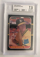 1987 Donruss Baseball #46 Mark McGwire Rookie BGS NM+ 7.5 OAKLAND A's