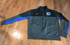 Men's Nike Duke University Gray Black Blue Full Zip Jacket Sz XL
