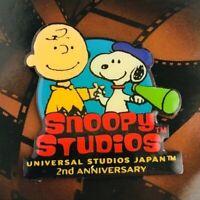 PEANUTS Snoopy Studios 2nd Anniversary Pins UNIVERSAL STUDIOS JAPAN 2002