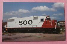 Soo Line 4437, Emd Gp38-2 in Minneapolis, Minn 1981 Train Postcard