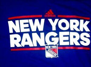 New York Rangers T- Shirt.  Adidas Size XL.  NWT.  NHL. Blue