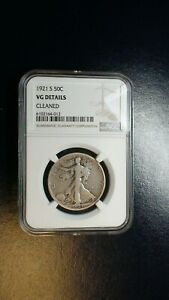 1921 S WALKER HALF NGC VG BETTER DATE SILVER 50C Coin PRICED TO SELL!