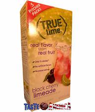 True Lime Black Cherry Limeade Drink Mix 5 Pitcher Packs 60g Box Makes10 Quarts