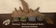 Wade Endangered American Animals Red Rose Tea Figurines Lot - Complete Set 10