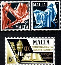 (Ref-13470) Malta 1967 Martyrdom of St.Peter & St.Paul  SG.382/384 Mint (MNH)