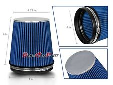 "BLUE Short 6"" 152mm Inlet Truck Air Intake Cone Replacement Dry Air Filter"