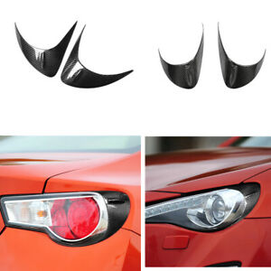 4x /Set Carbon Fiber Headlights Eyelids Eyebrows Cover for Scion FR-S Subaru BRZ
