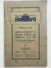 Standard Illustrated Replacement & Spare Parts Price List Series SLO July 1921