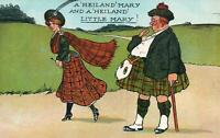 VINTAGE COMIC ENGLAND A 'HEIGHLAND' MARY and a 'HEILAND' LITTLE MARY POSTCARD