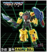 Transformers toy TFC TF-01 RagingBull Trinity Force action figure New