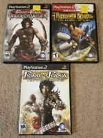 PS2 Prince of Persia PlayStation 2 sand of time two thrones warrior Trilogy Lot