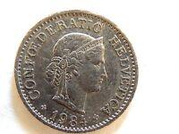1984 Swiss Ten (10) Rappen Coin