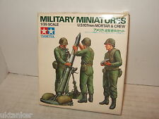 Tamiya MM219 US 107mm Mortar and Crew Model Kit in 1:35 Scale.