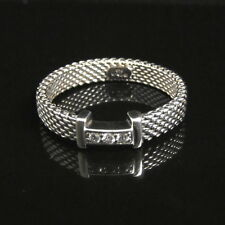 TIFFANY & CO ~ $600 ~ MINT POUCH SOMERSET DIAMONDS NARROW RING ~ DIFFERENT SIZES