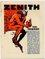 "1916 Zenith Carburetors Ad: ""The Thinker"" - ""I Am For Zenith!"""