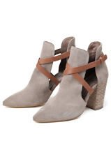 H by Hudson Women's Geneve Soft Suede Ankle Boot Beige UK 3