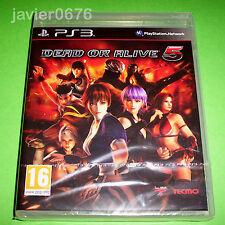DEAD OR ALIVE 5 NUEVO Y PRECINTADO PAL ESPAÑA PLAYSTATION 3 PS3