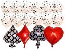 Poker Balloon Set Magic Vegas Alice in Wonderland Party Decoration Heart Diamond