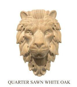Lion Head Hand Carving Corbel / Applique.