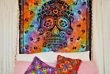 Indian Mandala Tapestry Wall Hanging Tye Dye Skull Tapestries Throw Home Decor