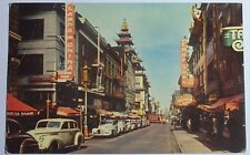 1953 Photo Postcard Of Main Road In Chinatown San Francisco California