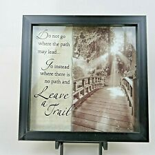 New View Shadowbox Wall Art 'Leave A Trail' With Inspirational Saying/ Quote