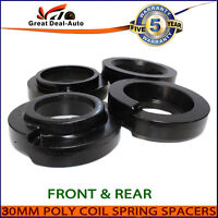 Fit Nissan Patrol GQ GU 4WD Front Rear 30mm Coil Spring Polyurethane Spacers Kit