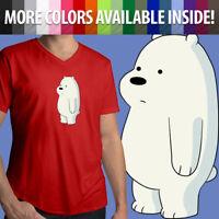 We Bare Bears Baby Ice Bear Cub Cartoon Kawaii Cute Show Mens Tee V-Neck T-Shirt