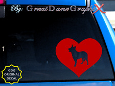 Australian Cattle Dog in Heart-Vinyl Decal Sticker / Color Choice - High Quality