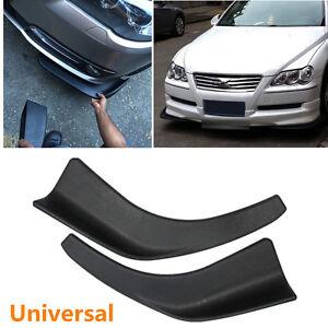 2xUniversal Car Body Bumper Front Deflector Splitter Spoiler Chin Lip Tuning Kit