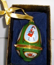 """Mr. Christmas Musical Egg"" Collectible Valerie Parr Hill Ornament Original Box"