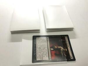 Lenayuyu 100pcs White Deck Protector Standard MTG Card Sleeves 66x91mm Matte